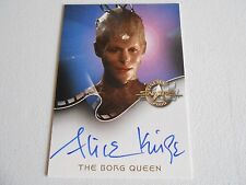 STAR TREK VOYAGER - ALICE KRIGE A8 AUTO - THE BORG QUEEN - CINEMA 2000