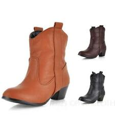 Medium (B, M) Block Synthetic Casual Boots for Women