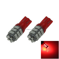 2x Red RV T10 W5W Corner Light Reading Bulb 42 1206 SMD LED 585 655 656 A049