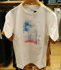 NWT UNIQLO UT EVANGELION 3.0 + 1.0 MEN White Graphic Short Sleeve T-shirt TEE
