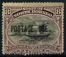 North Borneo 1895-97 SG#D7, 8c Postage Due P14.5-15 MH #D58056