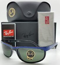 NEW Rayban sunglasses Predator 2 RB2027 6301 62 Blue on Black Green Classic 2027