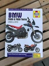 Haynes Service & Repair manual for 2006-10 BMW F800 & F650 Twins