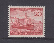 Germany Sc 690 MNH. 1952 20pf Freighter off Heligoland. Ship