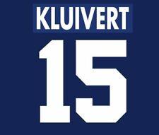 Kluivert #15 Ajax 1995-1996 Away Football Nameset for shirt