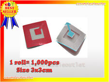 1000 Pcs Checkpoint Compatible 3X3 Clear Soft Label Tag 8.2Mhz.