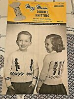 Mary Maxim Double Knitting Pattern No. 830 Kiddies Cardigan Grenadiers 4-6