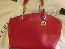FURLA SAC ROUGE RED BAG Borsa en cuir Leather