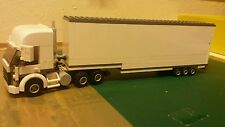 LEGO CITY CUSTOM  WHITE HIGHLINE TRUCK WITH REMOVAL WAGON TRAILER L@@K