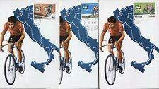 1967 - Giro d'Italia di Ciclismo - 3 Cartoline + annulli FDC