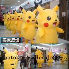 Brand Pikachu Adults Mascot Costume Party Pokemon Go Cosplay game Halloween hot