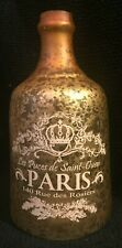 Hobby Lobby Gold Glass Paris Decorative Bottle