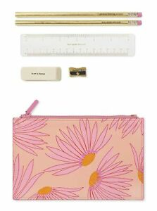 Kate Spade New York Pencil Pouch Including 2 Pencils, Sharpener, Eraser, and ...