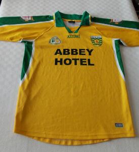 Donegal GAA Gaelic Football Jersey Shirt Size Adult Medium Azzurri Dun na nGall