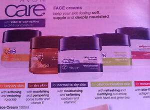 New Avon Care FACE creams for 24hrs Moisture Assorted x 2