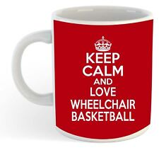 Keep Calm And Love Wheelchair Basketball  Mug - Red
