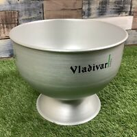 VLADIVAR Vodka Large Retro Silver Pub Display Piece - Rare Man Cave Bar - 1990s
