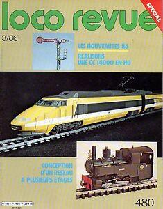LOCO REVUE N°480 mars 1986 tgv la poste CC14000 en HO