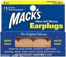 Mack's Beige Oreiller Silicone Souple Bouchons d'oreille x 2 Paires