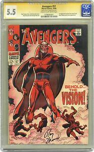 Avengers #57 CGC 5.5 SS 1968 0798060001 1st SA app. Vision