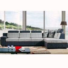 Divano angolare soggiorno 330x200 cm microfibra chaise longue sfoderabile|67