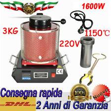 1600W Forno Fusione Elettrico 3 Kg Crogiolo Fusione Metalli FORNO DI FUSIONE DHL
