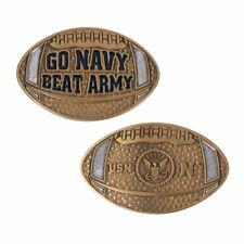 """GO NAVY BEAT ARMY FOOTBALL GAME 2""""  FOOTBALL CHALLENGE COIN"""