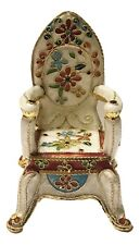 Oriental Treasures Cloisonne Miniature French Royal Flower Throne