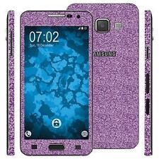 1 x glitter foil set for Samsung Galaxy A3 (A300) purple protection film