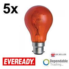 2 x Ampoules Eveready 40w BC B22 Rouge GLS Ampoule / ERFIR40BC S854