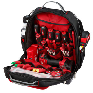 Milwaukee Backpack Tool Storage 15 in. Breathable Load-Bearing Harness Polyester