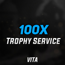 (VITA GAMES) Playstation PSN PS Vita Trophy Service - 100 PLATINUM TROPHIES