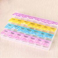 1 Neu 7 Tage Medikamentenbox Pillendose Pillenbox-Tablettendose Tablettenbox