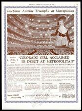 1936 Josephine Antoine photo opera recital Usa tour trade booking ad