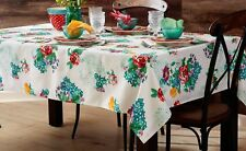 Pioneer Woman Tablecloth Country Garden Oblong 60 x 84  White Floral NEW