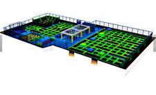 25,000 sqft Commercial Trampoline Park Ninja Climb Inflatable We Finance Turnkey