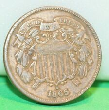 1865 US 2 Cent Type Coin F/VF