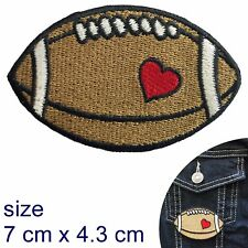 Rugby love Iron on patch Union league footy ball afl sport heart iron-on patches