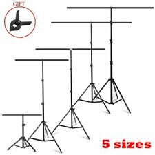 Adjustable T-Shape Crossbar Stand Backdrop Background Support System with Clamps