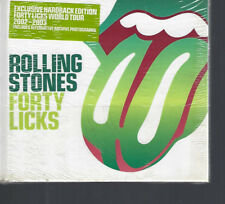 "ROLLING STONES ""Forty Licks"" HARDCOVER BOOK 2 CD sealed"