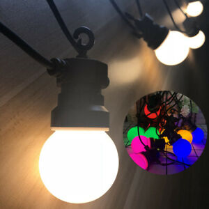 8/13M Mains Powered LED G50 Outdoor Fairy Lights Waterproof Garden Festoon Light