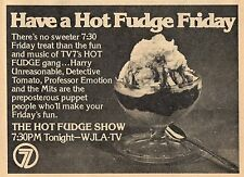 1977 WJLA TV AD~THE HOT FUDGE SHOW~CHILDRENS TELEVISION~PUPPETS~DETECTIVE TOMATO