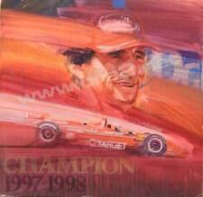 """Alex Zanardi--Champion '97-'98"" Signed Original George Bartell Watercolor, pen,"