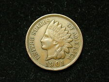 SUMMER SALE!! XF 1901 INDIAN HEAD CENT PENNY w/ DIAMONDS & FULL LIBERTY #78s