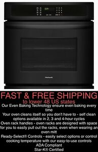 "*FREE SHIPPING* New Frigidaire 24"" Single Electric Black Wall Oven w/Vari-Broil™"