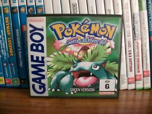 Pokémon Green Version(English)with Aus Cover & cartridge Label & GB logo shell.