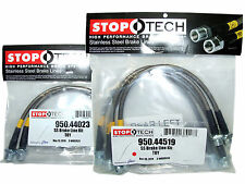 Stoptech Stainless Steel Braided Brake Lines (Front & Rear Set / 44023+44519)