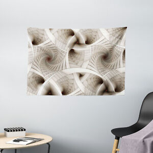 Fractal Tapestry Abstract Digital Style Print Wall Hanging Decor 60Wx40L Inches