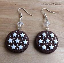 Orecchini biscotti pan di stelle mulino bianco in fimo