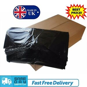 Extra Strong Heavy Duty Black Refuse Sacks Bin Liners Rubbish Waste Bags 200G